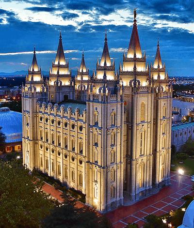 Salt Lake Temple at twilight