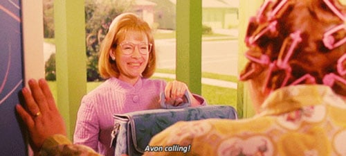 Avon calling scene from Edward Scissorhands