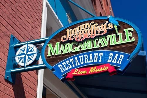 Jimmy Buffett's Margaritaville Restaurant sign