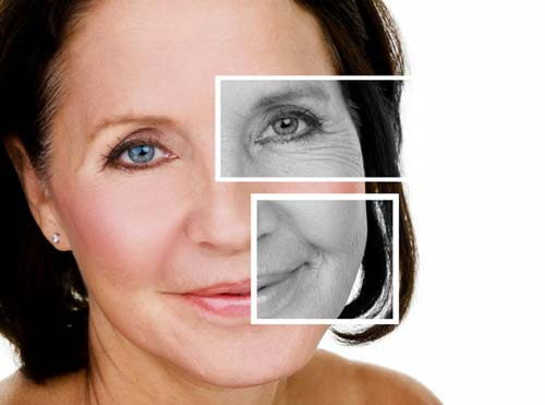 Mature woman for a beauty concept of anti-aging