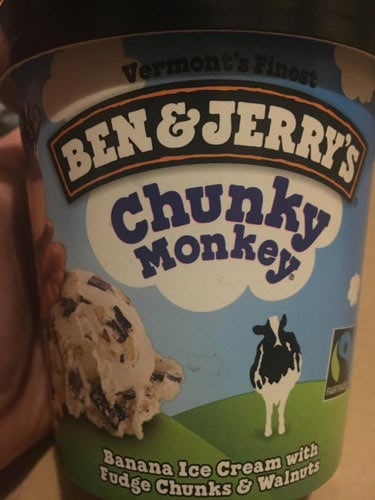 Chunky Monkey flavored ice cream