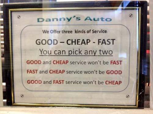 cheap sign