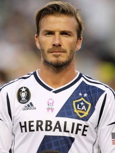 David Beckham in an LA Galaxy uniform