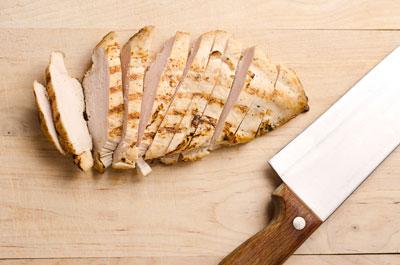 sliced up chicken breast