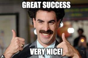 Borat great success very nice