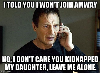 Won't join Amway
