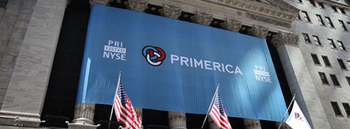 Primerica sign outside NYSE