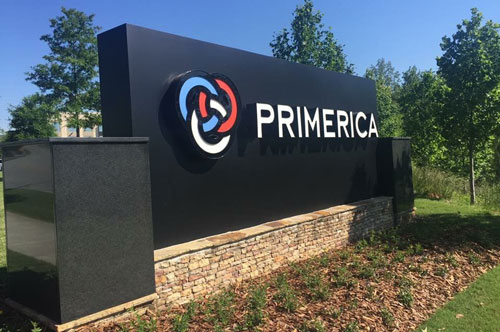 Primerica outdoor corporate office sign