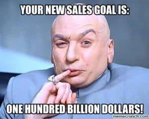 sales goal meme