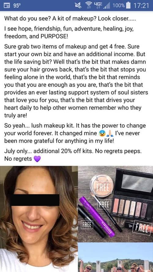 Younique Facebook post