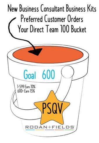 600 PSQV bucket Rodan and Fields