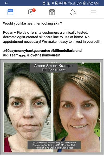 Rodan and Fields FB post