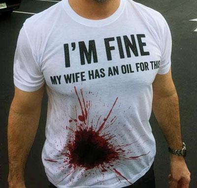 I'm fine essential oil tshirt