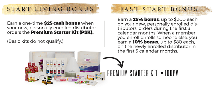 Young Living Starter and Fast Start Bonuses