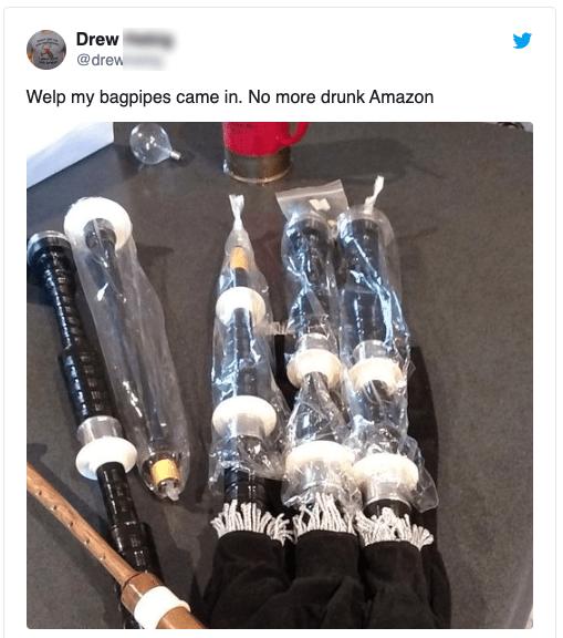 drunk Amazon purchase