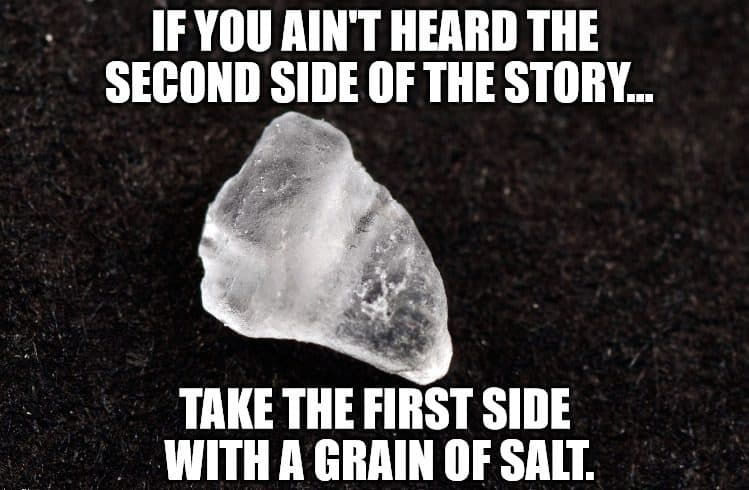 take it with a grain of salt