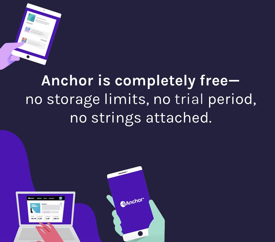 Anchor free