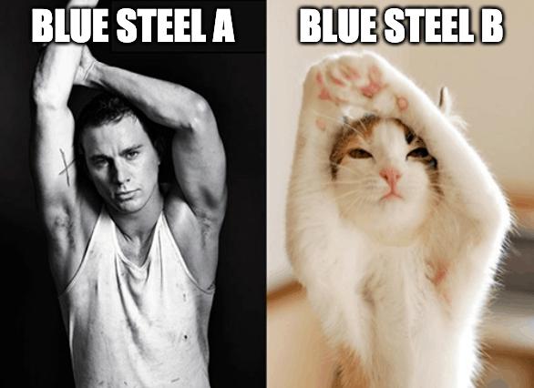 blue steel test