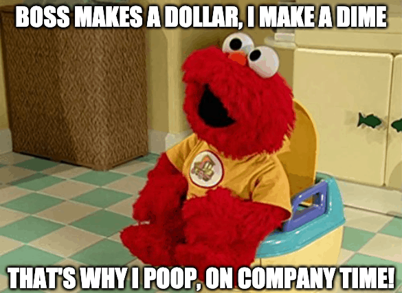 poop on company time