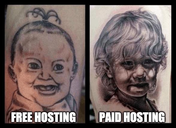 free vs paid hosting