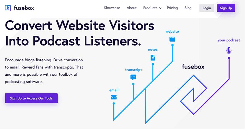 Fusebox homepage