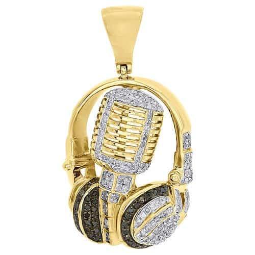 gold diamond mic