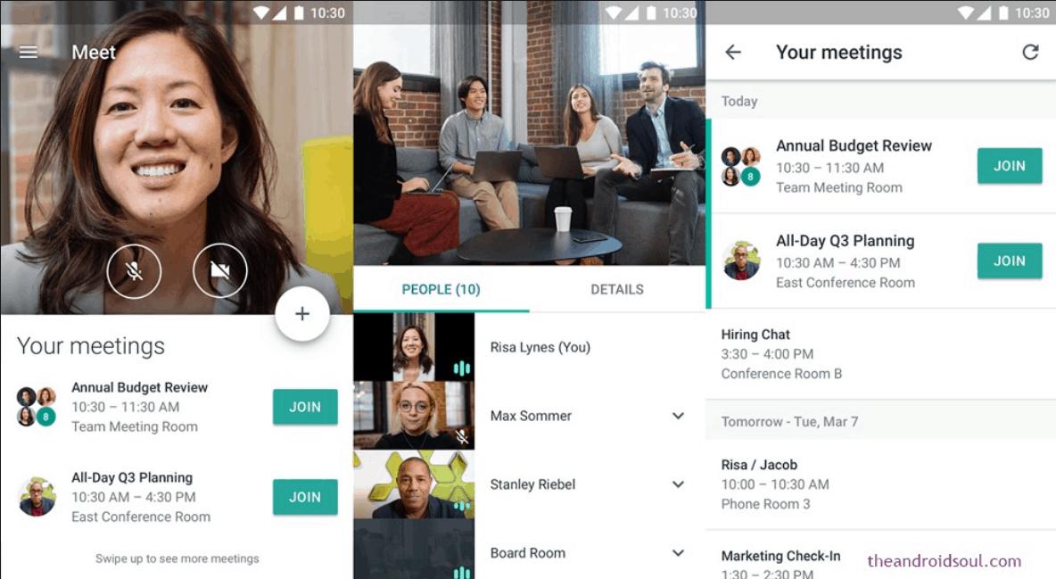 Google Meet platform