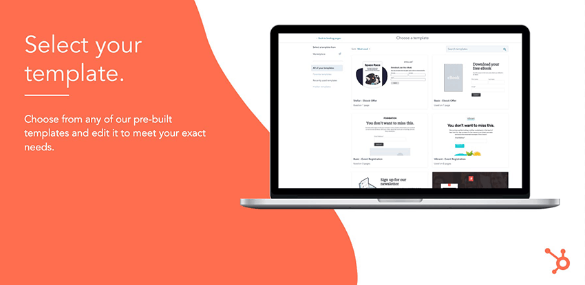 HubSpot landing pages