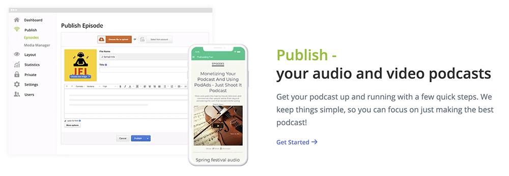 Podbean publish
