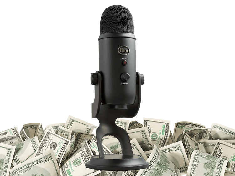 podcast microphone cash