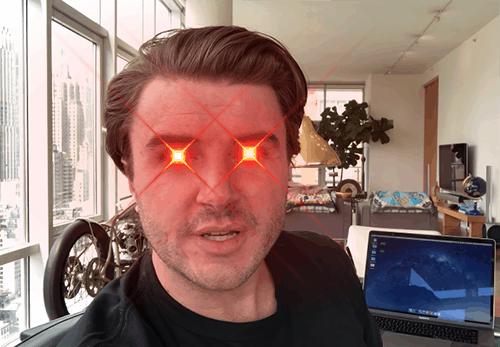 Sam Ovens laser eyes
