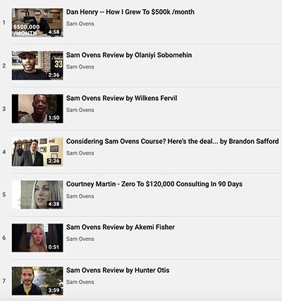 Sam Ovens YouTube interviews