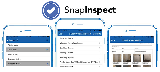 SnapInspect interface