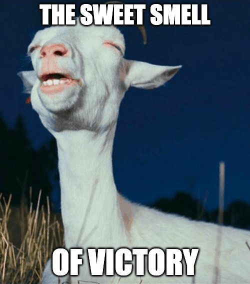 sweet smell of victory