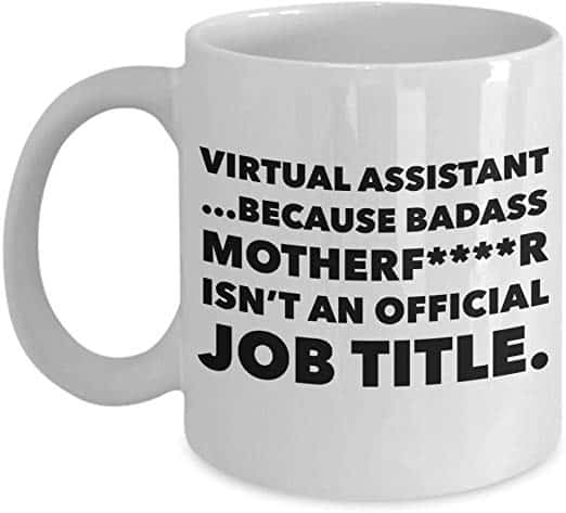 virtual assistant mug