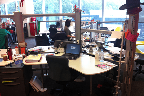 Vodafone desk