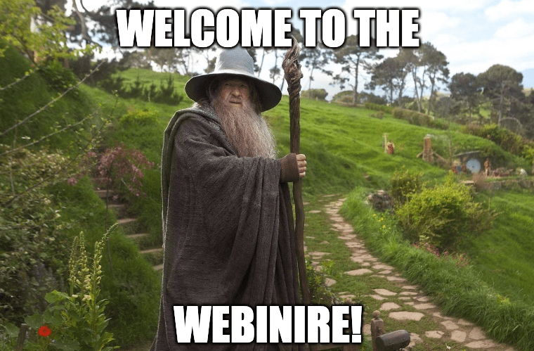 welcome to the webinire