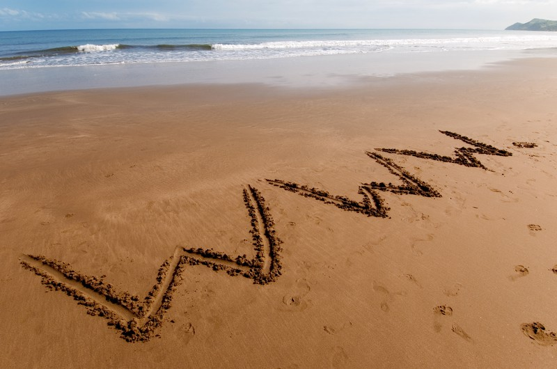 world wide web written on the sand